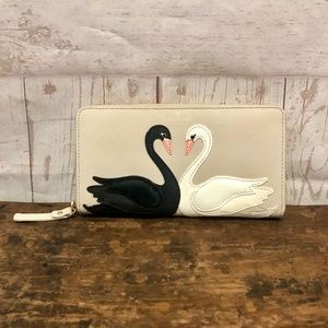 Kate Spade On Pointe Swan Applique Lacey Wallet